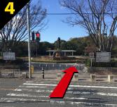 バーベキュー場紹介 緑地公園駅からバーベキュー会場までの道案内4