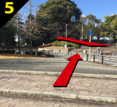 バーベキュー場紹介 緑地公園駅からバーベキュー会場までの道案内5