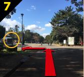 バーベキュー場紹介 緑地公園駅からバーベキュー会場までの道案内7