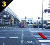 バーベキュー場紹介 西中島南方駅からバーベキュー会場までの道案内3
