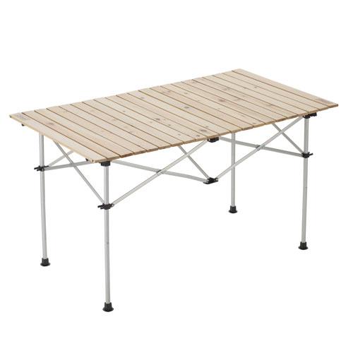 コールマン テーブル ナチュラルウッドロールテーブル120
