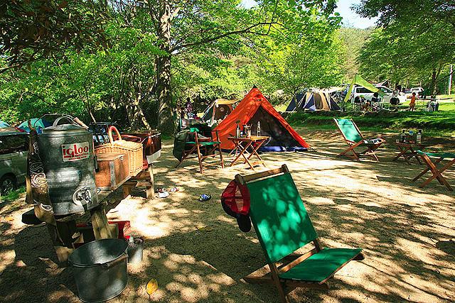 自然の森ファミリーオートキャンプ場でバーベキュー