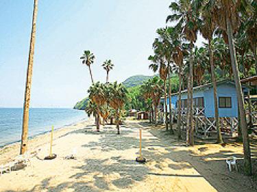 能古島キャンプ村海水浴場