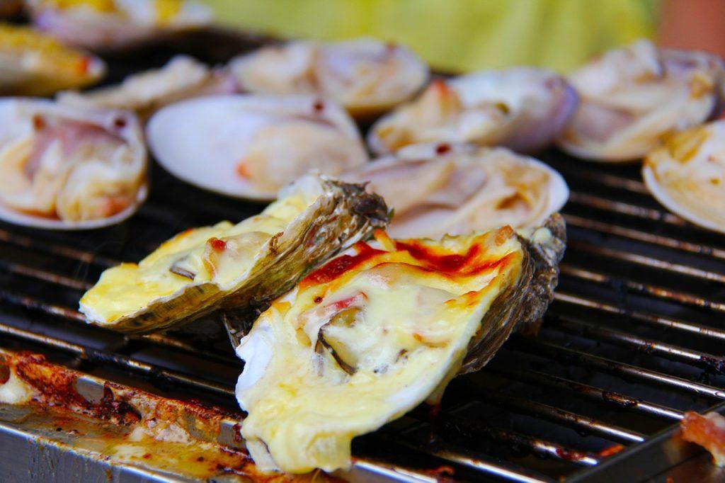 美味しい牡蠣のバーベキュー
