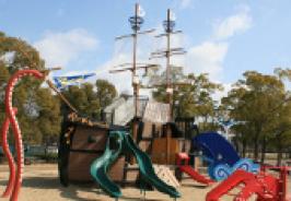 船の遊具「エキスポみらいgo!」