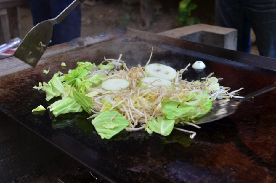 玉ねぎたっぷり野菜炒め