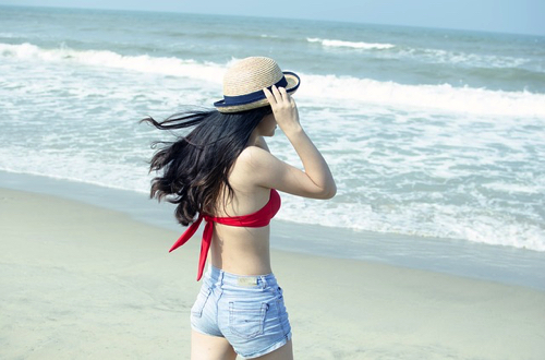 水着を着た女の子