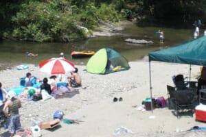 細野渓流キャンプ場 川沿い
