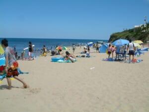 小浜海水浴場 海水浴客