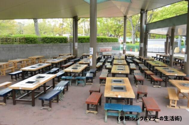 万博公園BBQ広場【2021年更新】のバーベキュー場紹介3