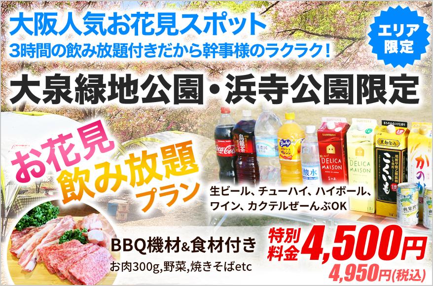 浜寺公園BBQ広場【2021年更新】の限定レンタルプラン2
