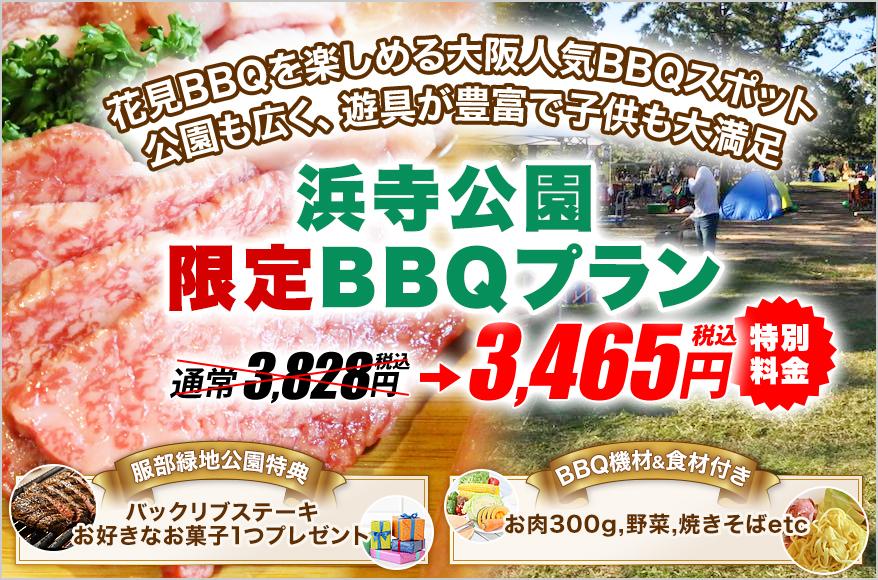浜寺公園BBQ広場【2021年更新】の限定レンタルプラン1